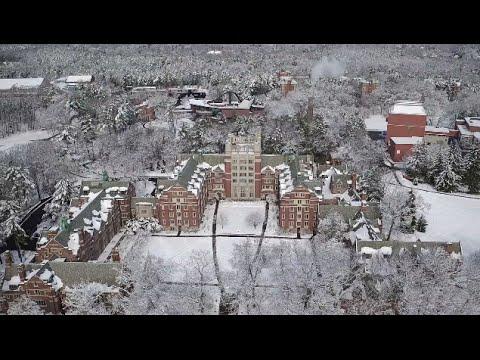 Winter Wonderland at Wellesley College, DJI Inspire 1 Pro Drone Footage