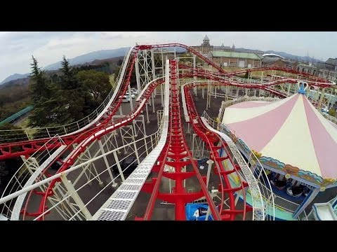 Bizarre Jet Coaster Roller Coaster POV Kobe Fruit and Flower Park Japan