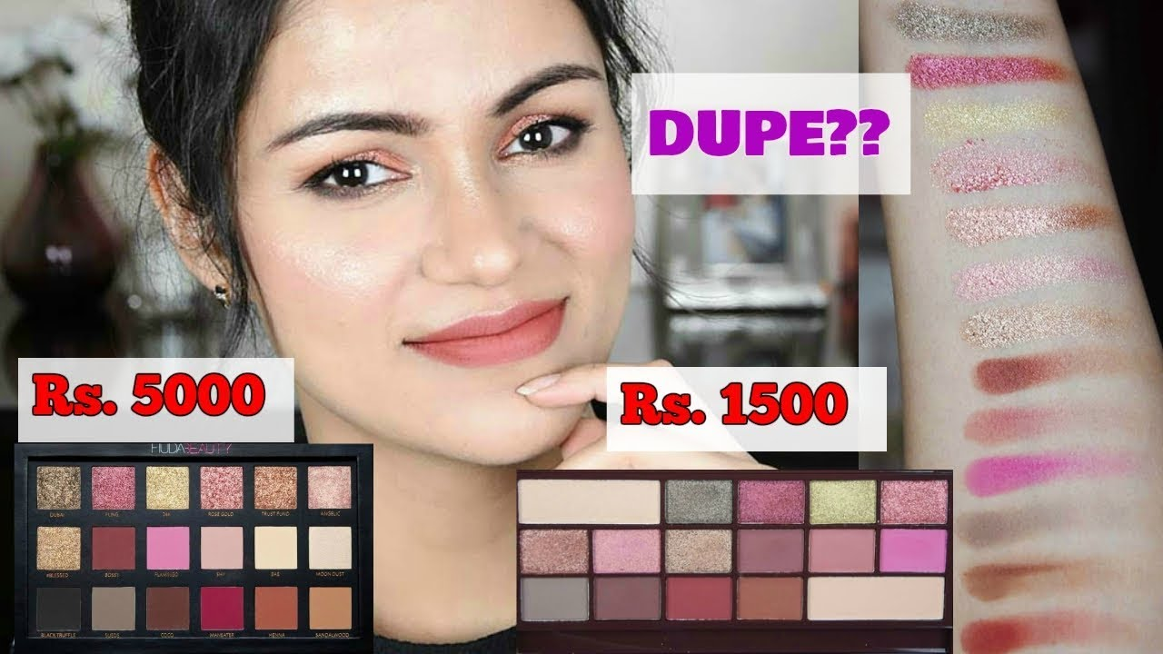 Huda Beauty Rose Gold Dupe Makeup Revolution Rose Gold Palette Review Swatches
