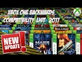 Xbox One Backwards compatable complete list 2017