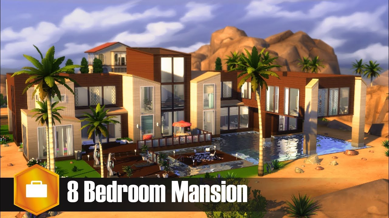 8 Bedroom Mansion L Sims 4 House Build Youtube