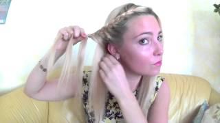 Быстрая причёска с плетением!