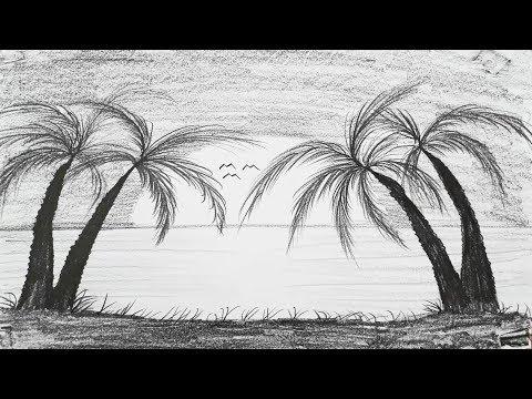 Çok Kolay Kara Kalem Manzara Resmi Nasıl Çizilir