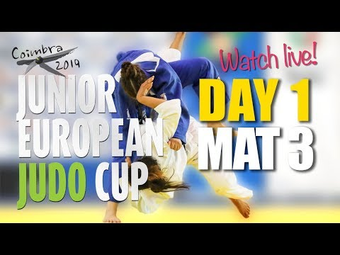 Junior European Judo Cup Coimbra 2019 - Day 1 - Mat 3
