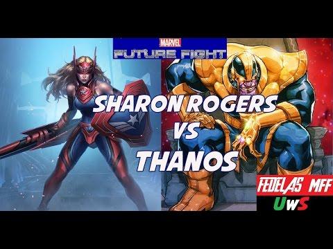 Marvel Future Fight: Team Sharon vs WB Thanos