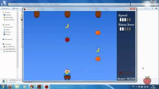 My first SDL C++ game - Catching Fruit