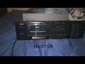 RCA SCT-530 HIGH-SPEED DUBBING STEREO CASSETTE DECK 1999 overview (non-Working/look inside)