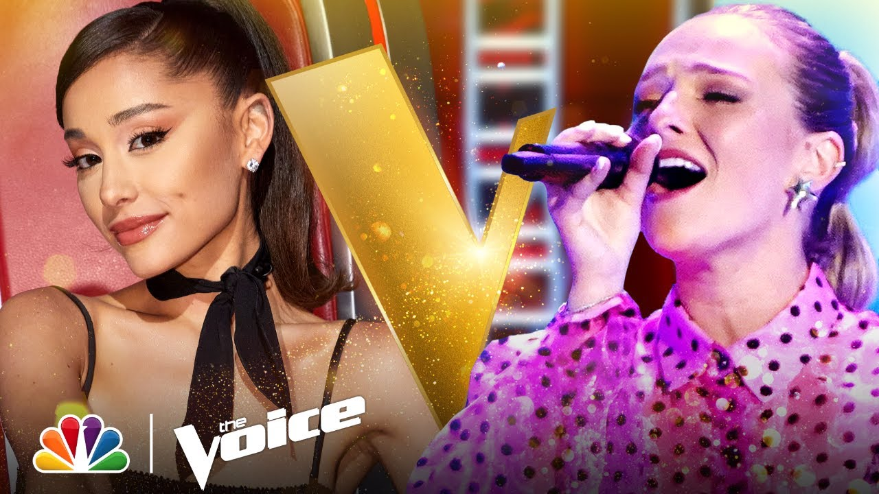 """Download Katherine Ann Mohler Grooves on """"We Don't Have to Take Our Clothes Off""""   Voice Blind Auditions 2021"""