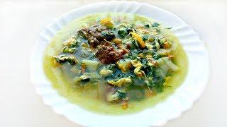 Суп со шпинатом и тушенкой! Вкусный зеленый супчик!