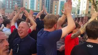 Liverpool fans sing Allez allez allez Liverpool v Chelsea