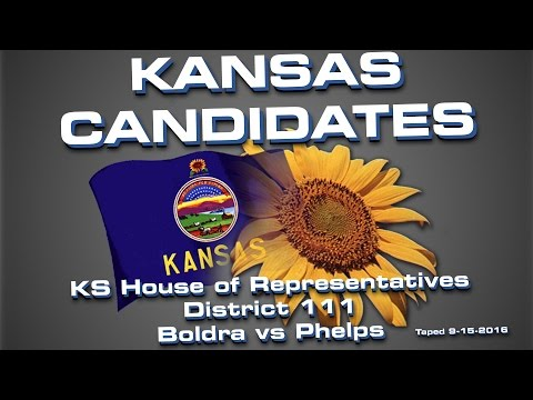 Kansas Candidates: House of Representatives: Boldra vs Phelps