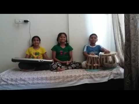 Children playing national anthem on instruments