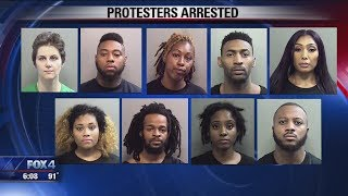'Dallas 9' arrested after protest outside Cowboys game over Botham Jean Killing