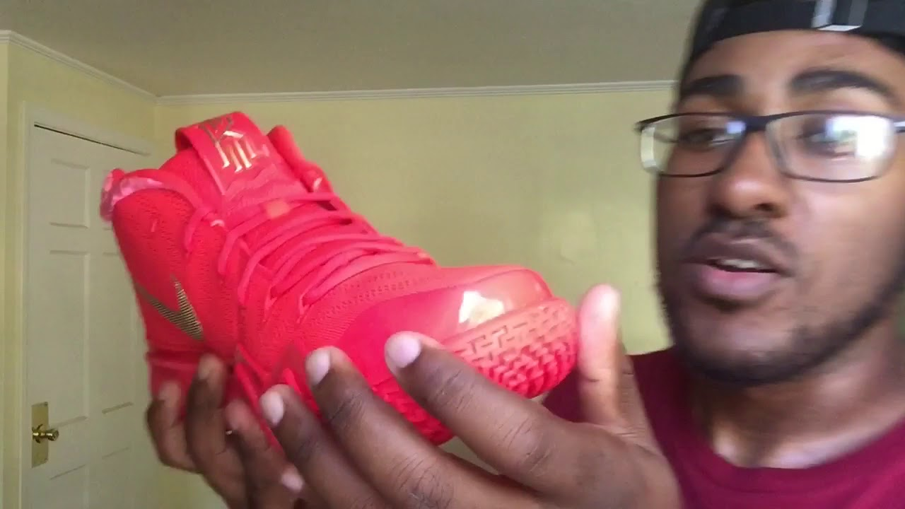 "77bb045f9fae NIKE KYRIE 4 ""RED CARPET"" REVIEW THOUGHTS - YouTube"