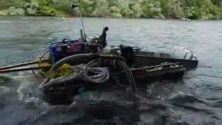SABOTAGE ON THE HANDEGARD DREDGE! SOMEONE CUT MY ANCHOR LINE! AND I GOT A QUARTER OUNCE OF GOLD!