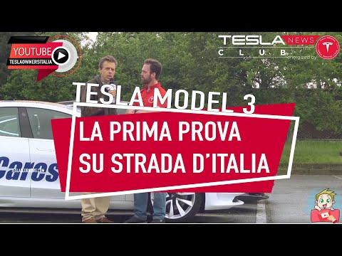 Tesla Model 3: la prima prova su strada in Italia