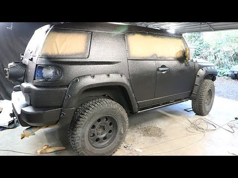 FJ Cruiser Build Pt 7 - DIY Truck Bed Liner Paint Job