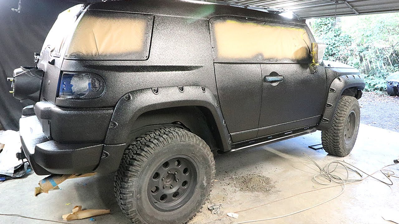 FJ Cruiser Build Pt 7 - DIY Truck Bed Liner Paint Job ...