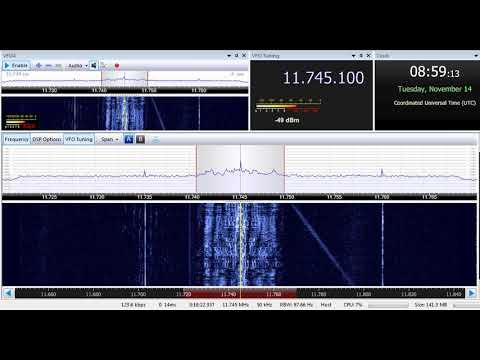 14 11 2017 Al Azm Radio on 11745 Jeddah or Riyadh & Republic of Yemen Radio on 11860 Jeddah, 0857UTC