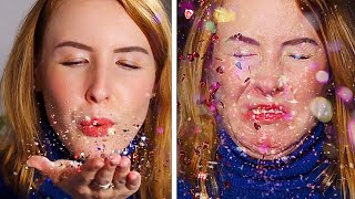 Recreating Slow-mo Glitter TikToks / We Tried Glitter TikToks