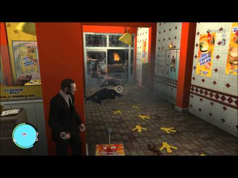 GTA IV gameplay 6 stars wanted level.