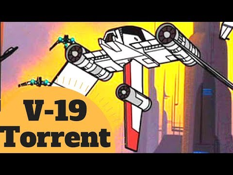 The B-Wing's Clone Wars Brother - V-19 Torrent Starfighter - Star Wars Canon & Legends Explained