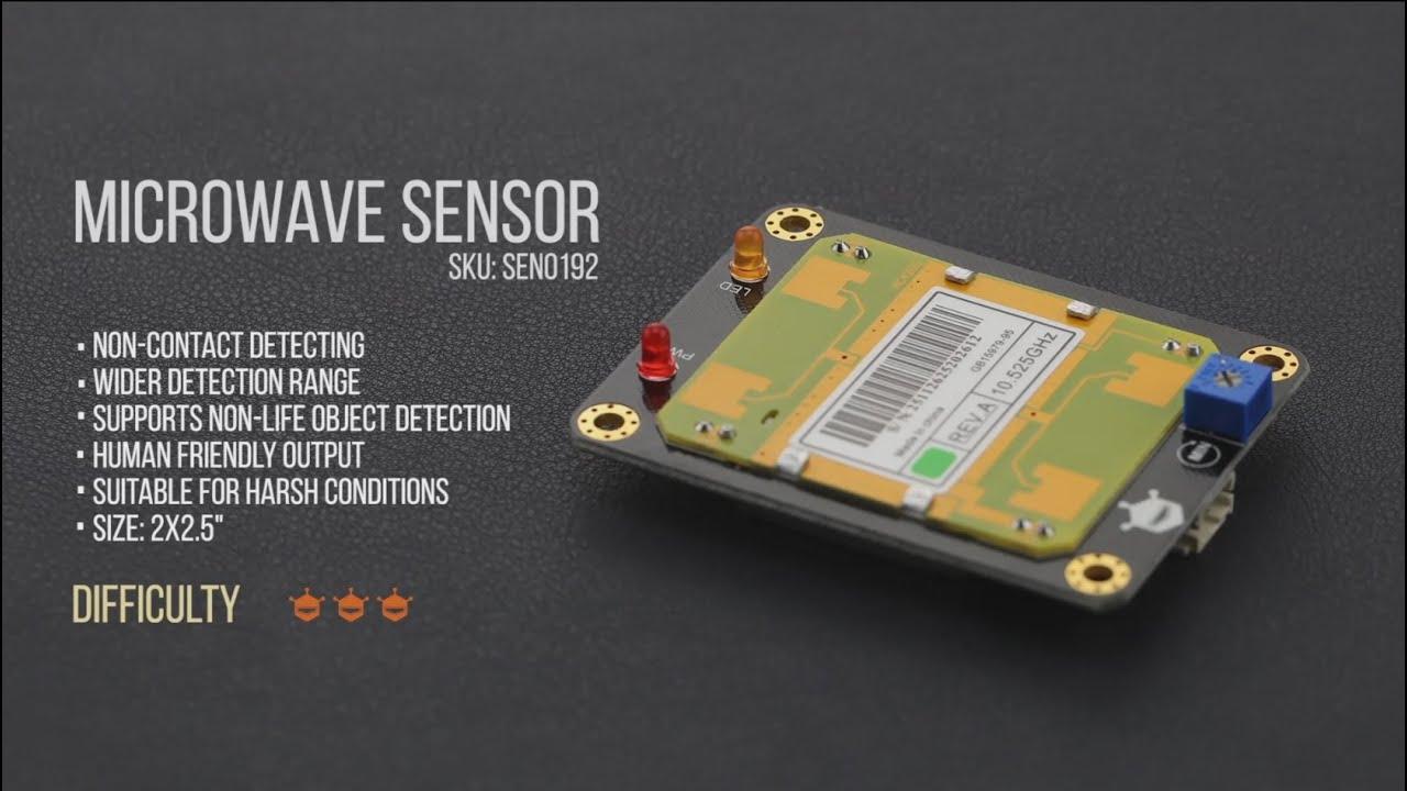 Gravity Arduino Digital Microwave Sensor Motion Detection