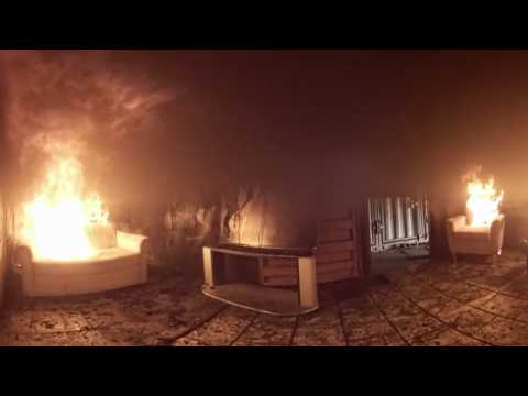 House fire – A 360° test fire from New Zealand Fire Service | firefighting