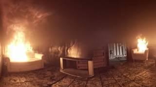 House fire - A 360° test fire from New Zealand Fire Service | firefighting
