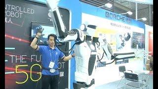 Robot Technology, Flexible Display Screen Draw Attention at China High-Tech Fair