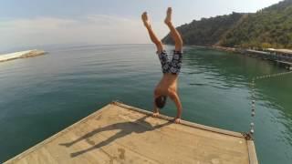 Kayalardan denize atladım dizim yarıldı    Xiaomi Yi    EmiR KorkmaZ