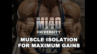 Maximum Muscle Gains with Muscle Isolation Ben Pakulski Training