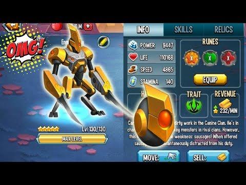Monster Legends - Talos the automaton level 130 combat review Good Nemesis