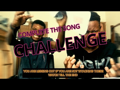 COMPLETE THE LYRICS CHALLENGE (PART1)