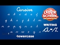 Learn Cursive Handwriting with 'Cursive Writing LetterSchool' - LOWERCASE ABC