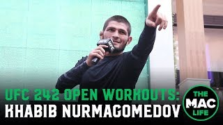 Khabib Nurmagomedov says if Georges St-Pierre wants to fight it has to be at lightweight