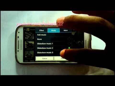 Samsung Galaxy S4 : How to Add Music in Slideshow Image