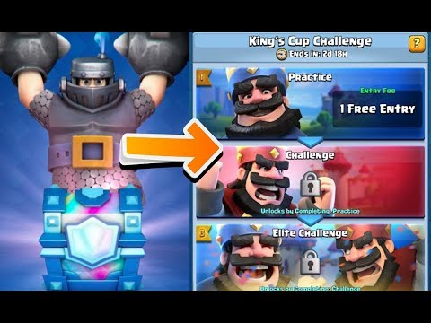 GUESS MY LEGENDARY out of LEGENDARY CHEST in KING's CUP CHALLENGE in Clash Royale