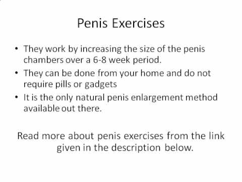 Penis Exercises to Increase Penis Size - YouTube
