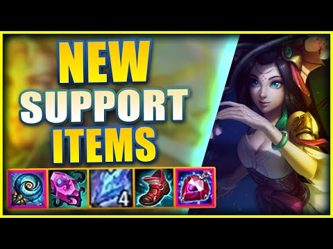 *SEASON 11* FIRST NEW TEST OF THE NEW SUPPORT ITEMS! (INSANE LEVELS OF HEALING!) – League of Legends