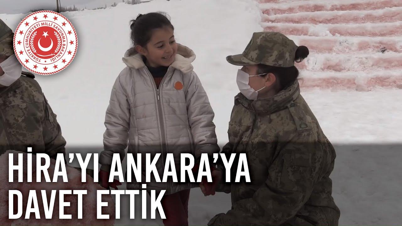 Anıtkabir'i Merak Eden Minik Hira'yı Yüksekova'daki Evinde Ziyaret Edip  Ankara'ya Davet Ettik - YouTube