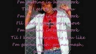 Corbin Bleu-Homework with lyrics and pictures