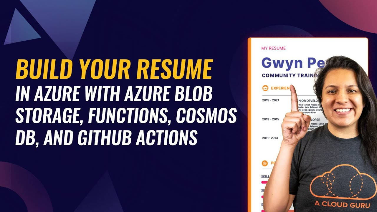 Build Your Resume on Azure with Blob Storage, Functions, CosmosDB, and GitHub Actions