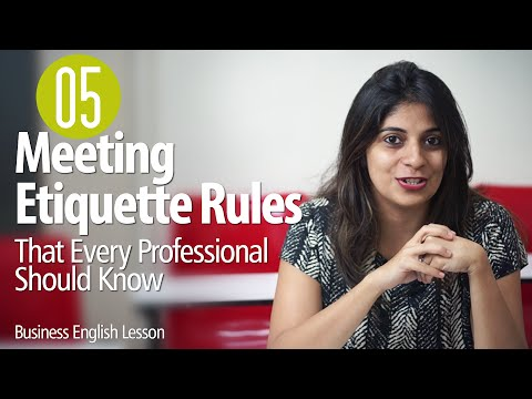 05 Etiquette Rules For Business Meetings for Every Professional  - Business English Lesson