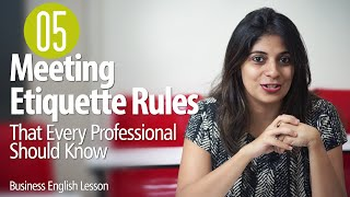 05 Etiquette Rules For Business Meetings for Every Professional  - Business English Lesson thumbnail
