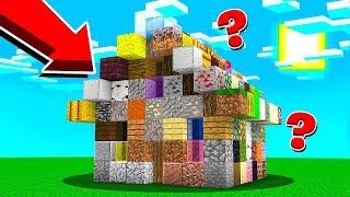 Costruisco Una Casa Con Tutti I Blocchi Di Minecraft Stef Vs Phere