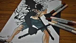 Drawing Asta Demon Form Black Clover Youtube