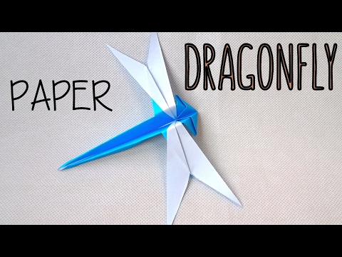 How to fold a Paper Dragonfly | Origami Dragonfly | Easy Origami