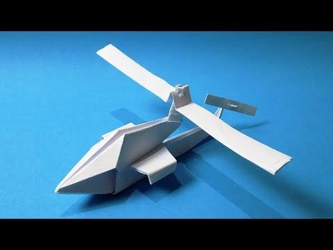 Origami Helikopter - Cara Membuat Kertas Helikopter