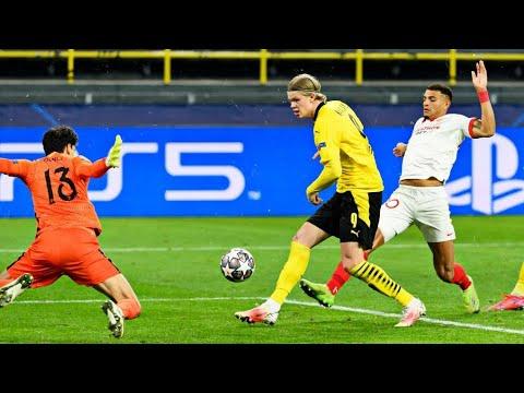 Erling Haaland Vs Sevilla (09.03.2021) UCL (2 Goals) •HD